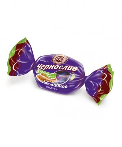 Чернослив с грецким орехом в шоколаде 500г
